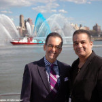 Antonio Meneses Saillant (CEO, Angel Light Pictures Entertainment Group & Founder of Planet Greenfest ) with Lionel (WPIX-TV personality) at the christening of Pier 15 at South Street Seaport - - an area hard-hit by Hurricane Sandy. — at Pier 15.