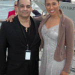 "Antonio Meneses Saillant (CEO, Angel Light Pictures Entertainment Group & Founder of Planet Greenfest) with Margot Bingham - Boardwalk Empire's ""Daughter Maitland"" (actress, Boardwalk Empire) at the christening of Pier 15 at South Street Seaport - - an area hard-hit by Hurricane Sandy. — at Pier 15."