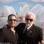 Antonio Meneses Saillant (CEO, Angel Light Pictures Entertainment Group & Founder of Planet Greenfest ) with Mark Philipps (Director of Marine Operations) at the christening of Pier 15 at South Street Seaport - - an area hard-hit by Hurricane Sandy. — at Pier 15.