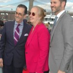 Lionel, Manhattan Borough President Gale Brewer and President and CEO of NYC & Co Fred Dixon are seen at Hornblower Cruises & Events Pier 15 Launch Party at South Street Seaport, on Tuesday, May 6, 2014 in New York. — at Pier 15.