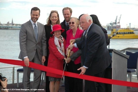 Hornblower Cruises & Events christening of Pier 15 at South Street Seaport